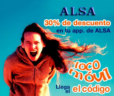 Promocion App ALSA cupon descuento 30%