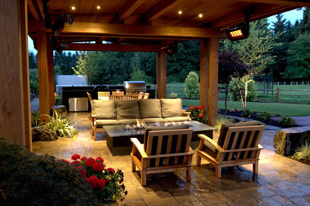 Intimate Patio With Fire Pit