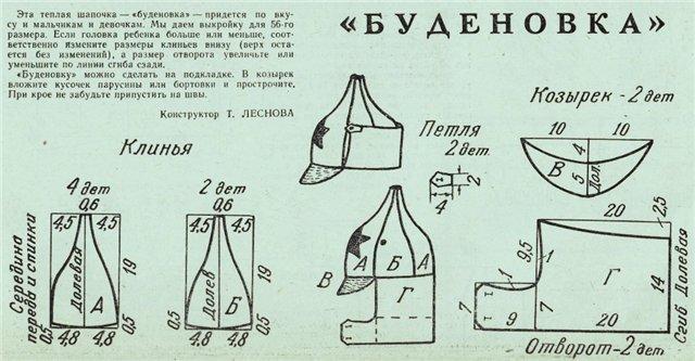 Выкройка шапки-ушанки из флиса