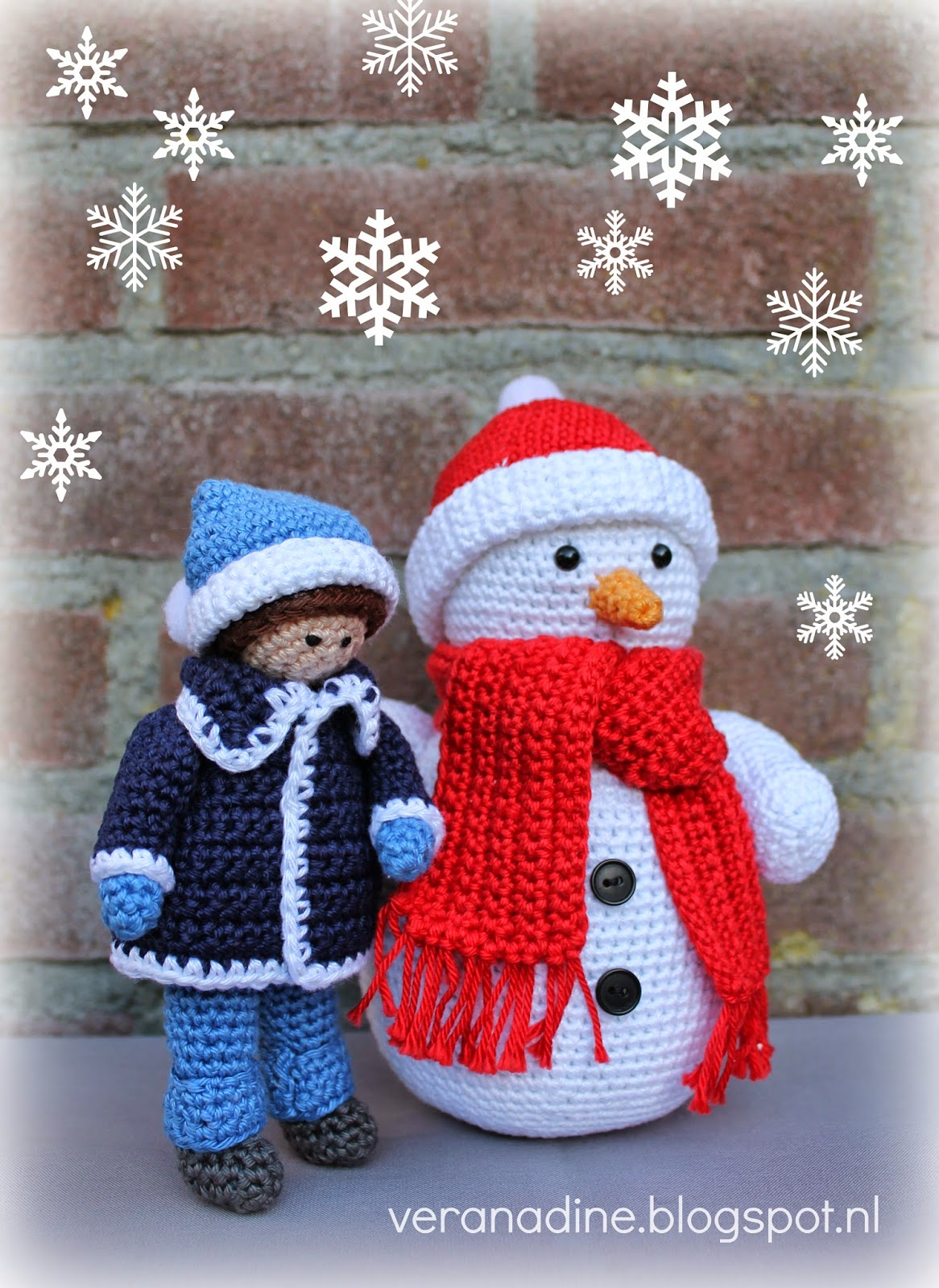 Sneeuwpop Haken Gratis Patroon Archidev