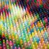 Retratos realizados con cientos de crayones