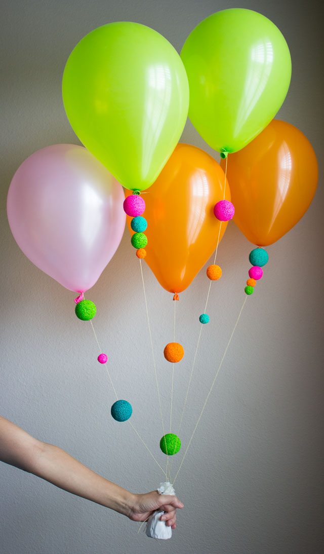 A fun way to decorate balloons design improvised for Balloon decoration designs