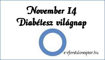 November 14 - Diabétesz világnap