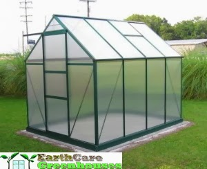 Polycarbonate Greenhouse Glazing on Basic EarthCare 6x8 Greenhouse Picture