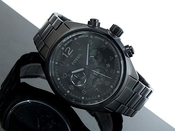 prettytreasure2u fossil mens flight chronograph stainless watch fossil mens flight chronograph stainless watch black bracelet black dial ch2803