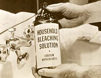 Bottle of Household Bleaching Solution.