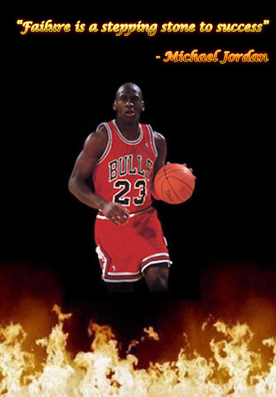 Failure stepping stone of success says michale jordan
