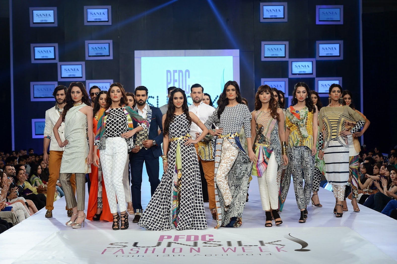 "Sania Maskatiya PFDC Sunsilk Fashion Week 2014 - ""Kauma"" African inspired collection"