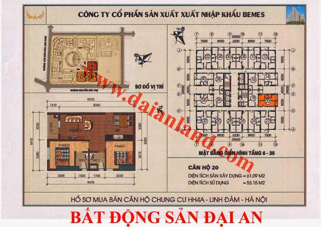 Căn hộ số 20 - Chung Cư HH4A Linh Đàm