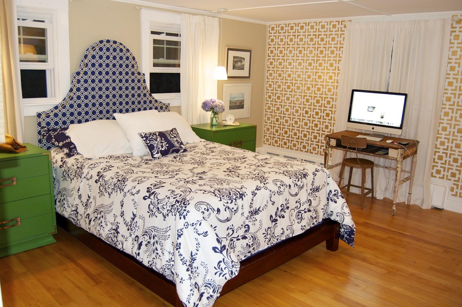seaside shelter preppy cottage bedroom reveal