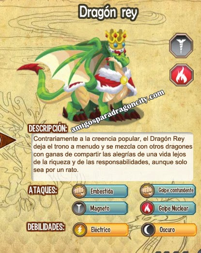 imagen de las caracteristicas del dragon rey