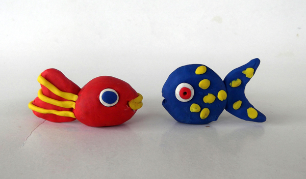 fish, plasticine, play dough, dough, clay, crafts, kids crafts, creatures, underwater creatures