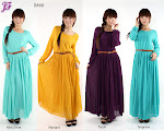 NEW ITEM: FULL LINING CHIFFON MAXI DRESS D866