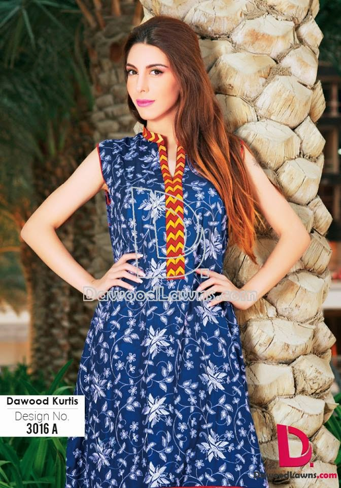 Stylish Kurti lawn prints 2015