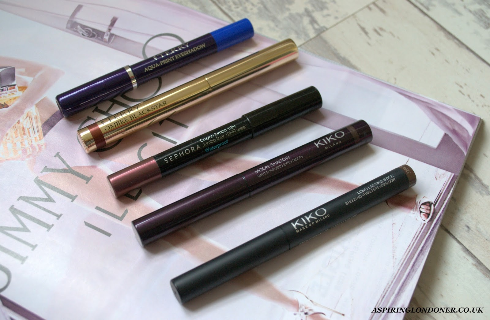 Eyeshadow Crayons Review+Swatch ft By Terry, Kiko, Sephora - Aspiring Londoner