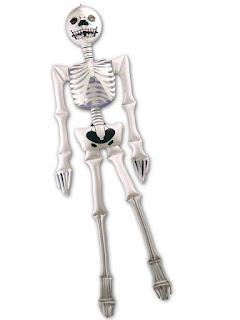 halloween pynt skelet