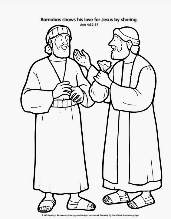 check out this great coloring page to show how barnabas gave his wealth to the church click here to print