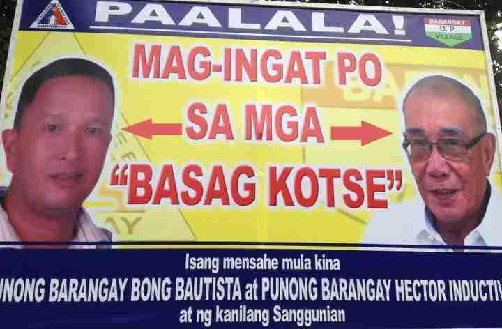 paalala magingat sa basag kotse hilarious pinoy sign