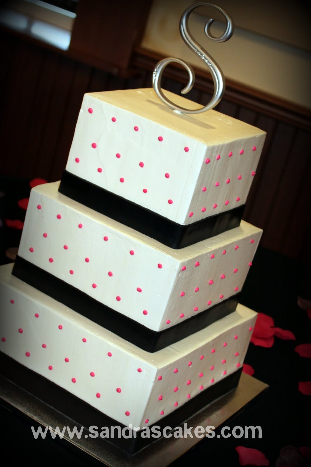 Square Buttercream Wedding Cakes Viewing Gallery