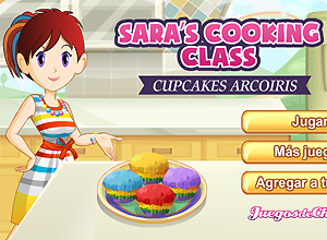 Cocina con Sara CUPCAKES ARCOIRIS
