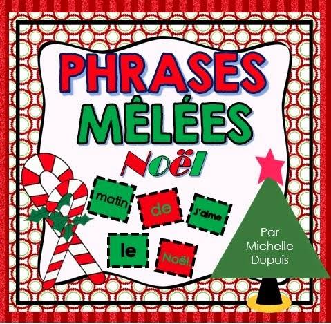 Phrases mêlées de Noël