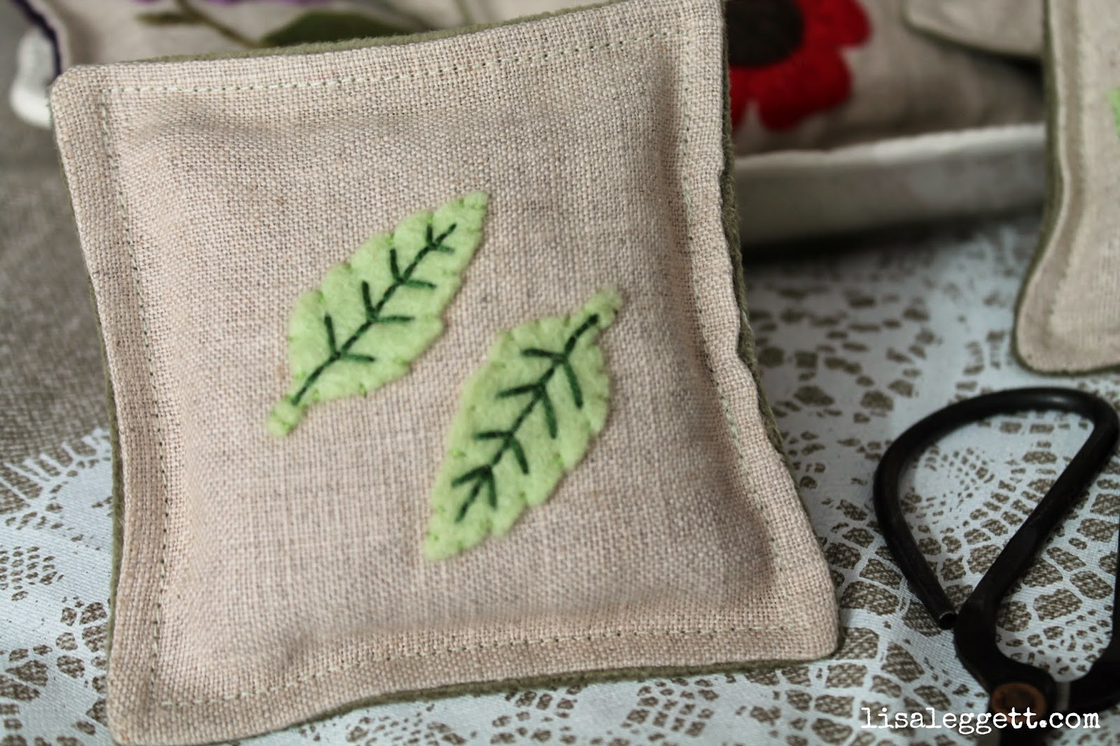 Little Leaves Linen Pincushion