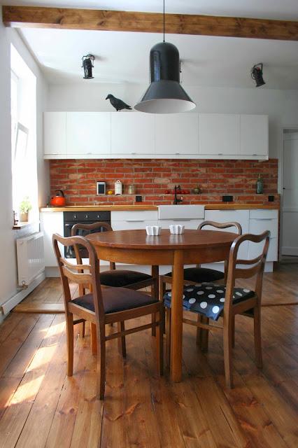 W Domu Marty Cegła W Kuchni Mieszkanie Izy