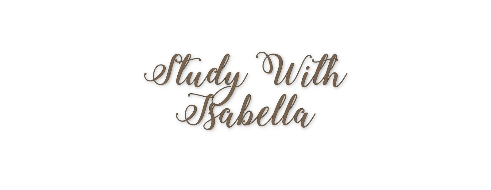 StudyWithIsabella by Isabella Zogheib