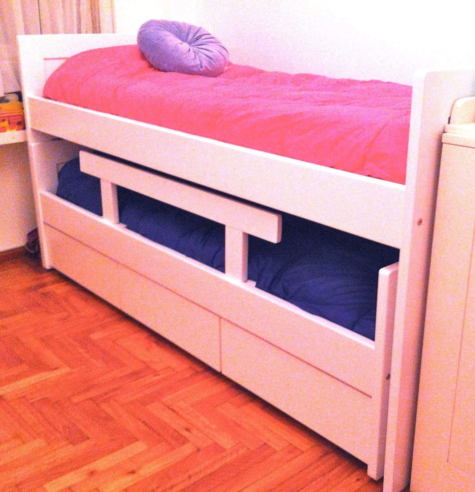Cama nido con cajones zona color for Cama nido doble con ruedas