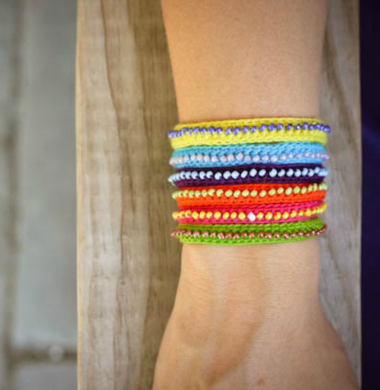 ACCESSORIES DIY Beaded And Wrapped Bracelets