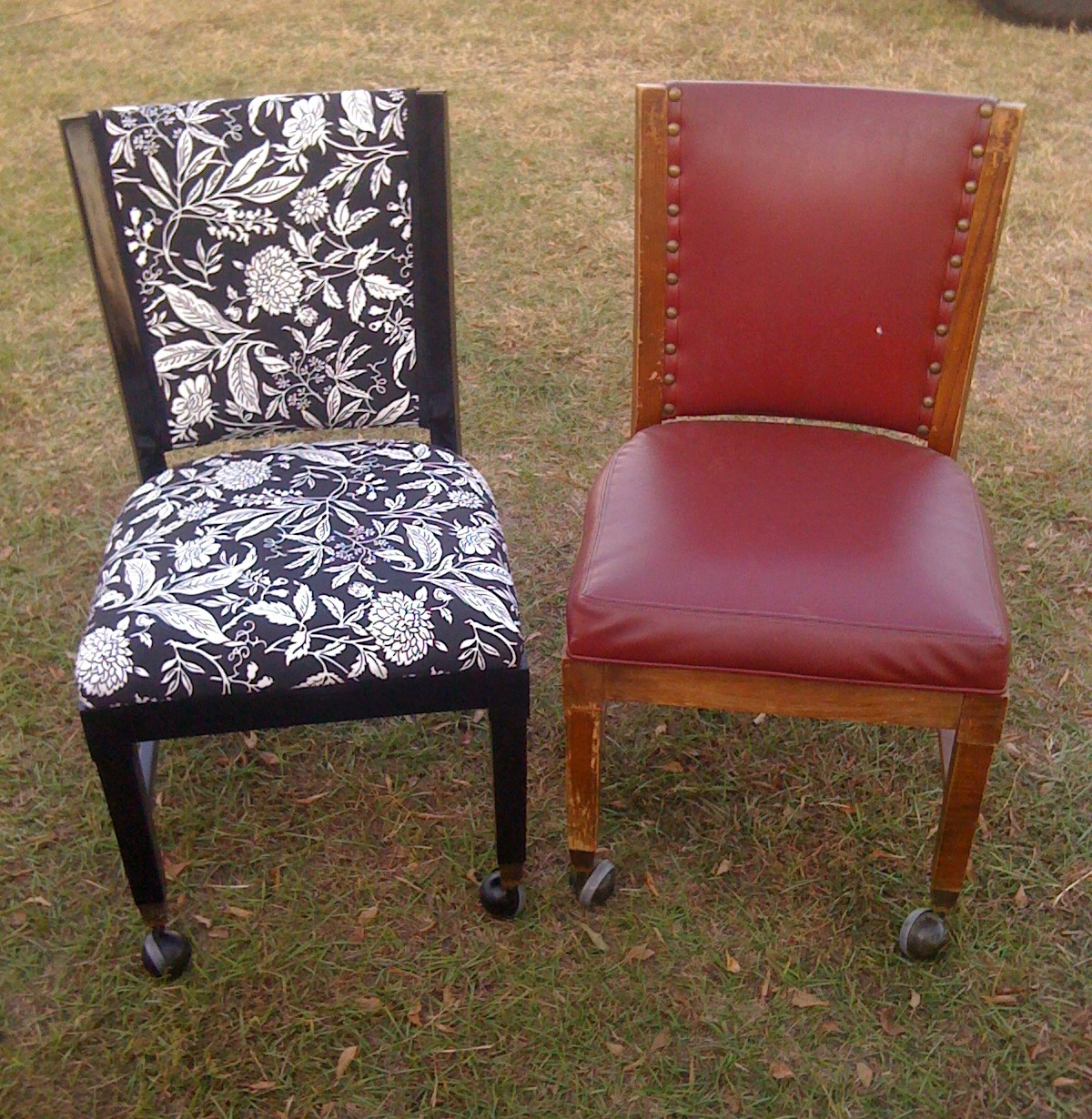The Funkie Munkie Furniture 2 Chair Reupholstery Projects