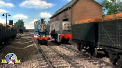 Island of Sodor wash down Thomas the train saw a new diesel locomotive working on the railway tracks