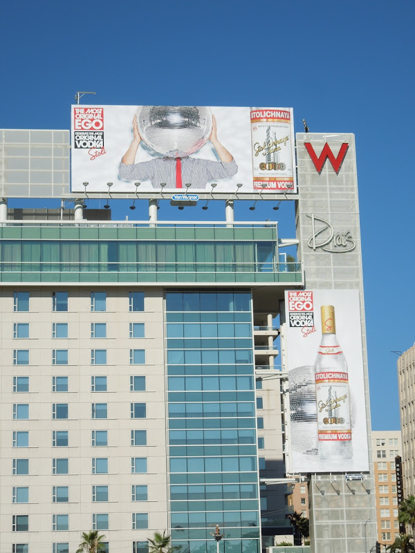 Stoli Most Original Ego glitterball billboards Hollywood