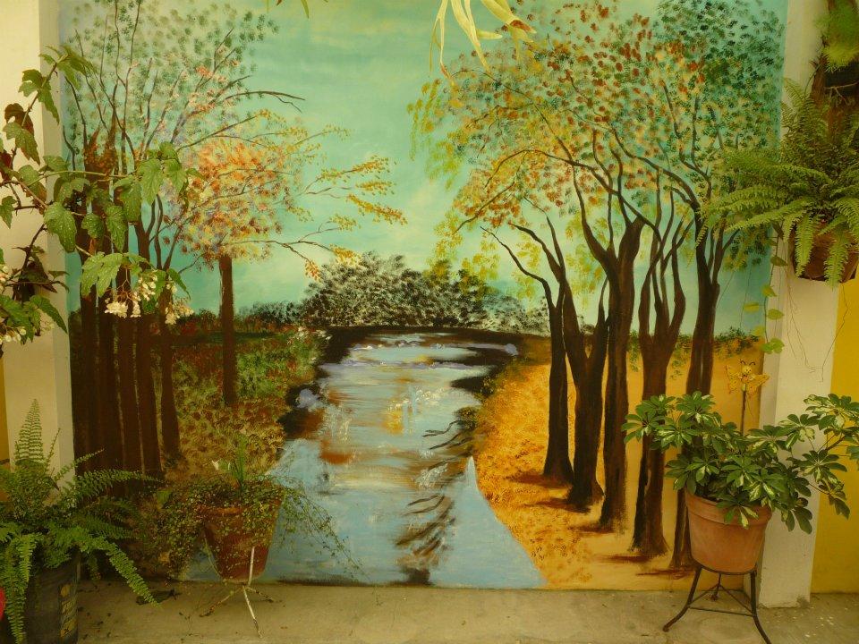 Artesan as elsa murales tapices y cuadros for Como pintar murales en paredes exteriores