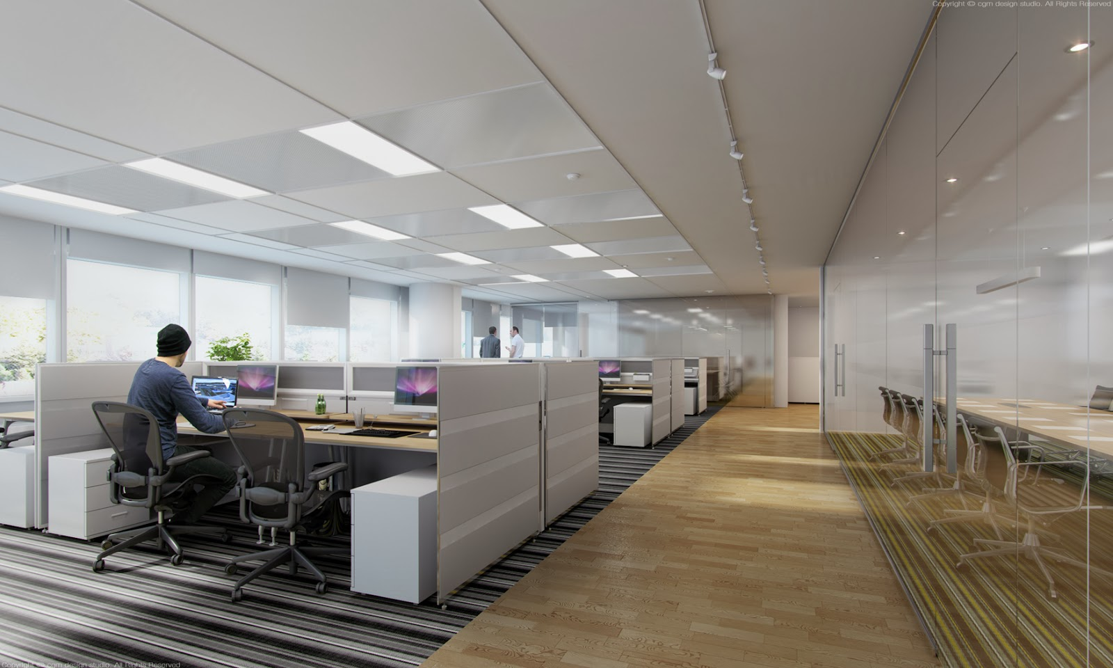 3d architectural interior visualisation 3d for Office design 3d max
