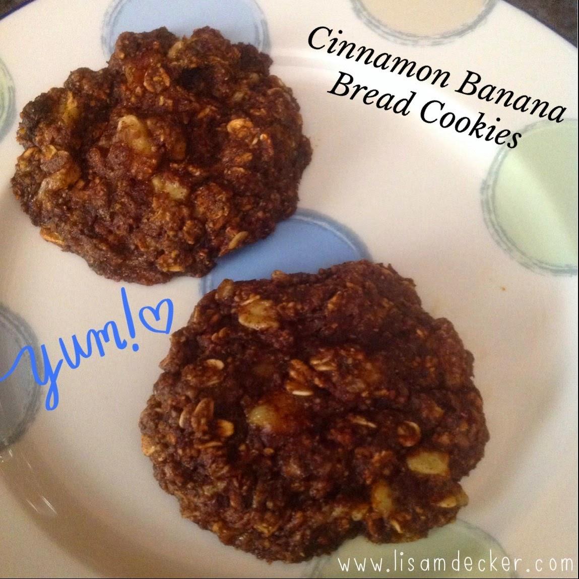 Cinnamon Banana Bread Cookies