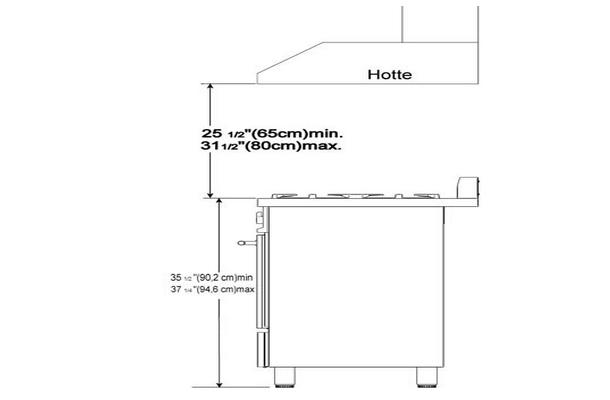 Installation de la hotte d 39 vacuation schema electrique - Hauteur d une hotte par rapport au plan de travail ...
