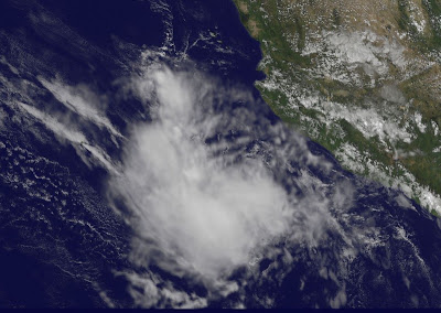 Der Tropische Sturm IRWIN vor Mexiko hat rechtzeitig die Kurve gekriegt, Irwin, Pazifik, aktuell, Mexiko, Oktober, Satellitenbild Satellitenbilder, 2011, Hurrikansaison 2011, Verlauf, Vorhersage Forecast Prognose,
