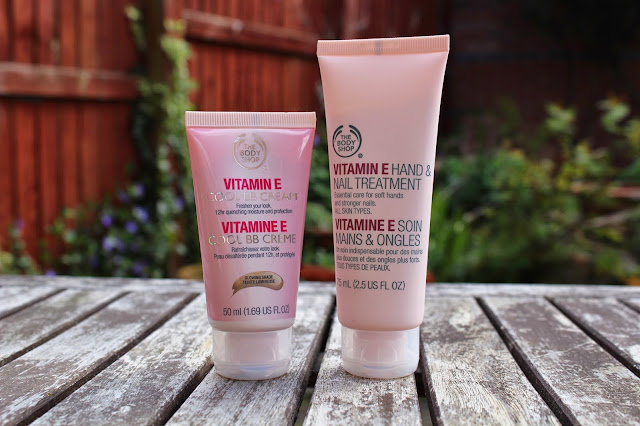 The Body Shop Vitamin E Cooling BB Cream and The Body Shop Vitamin E Hand & Nail Treatment