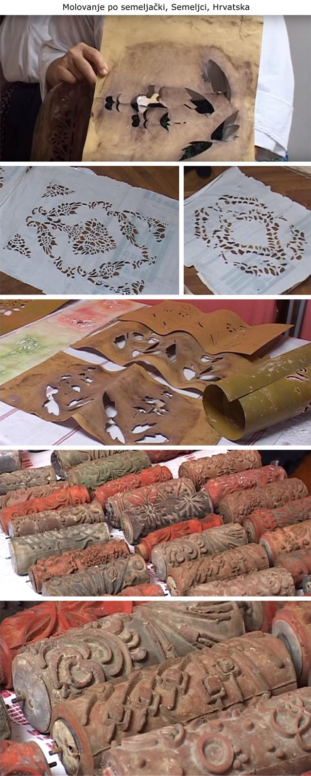 decorazione, rulli decorativi vintage, stencil, wall painting, vintage patterned paint rollers, starinski reljefni valjci za moleraj, šabloni, mustre