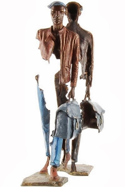 11-French-Artist-Bruno-Catalano-Bronze-Sculptures-Les Voyageurs-The-Travellers-www-designstack-co