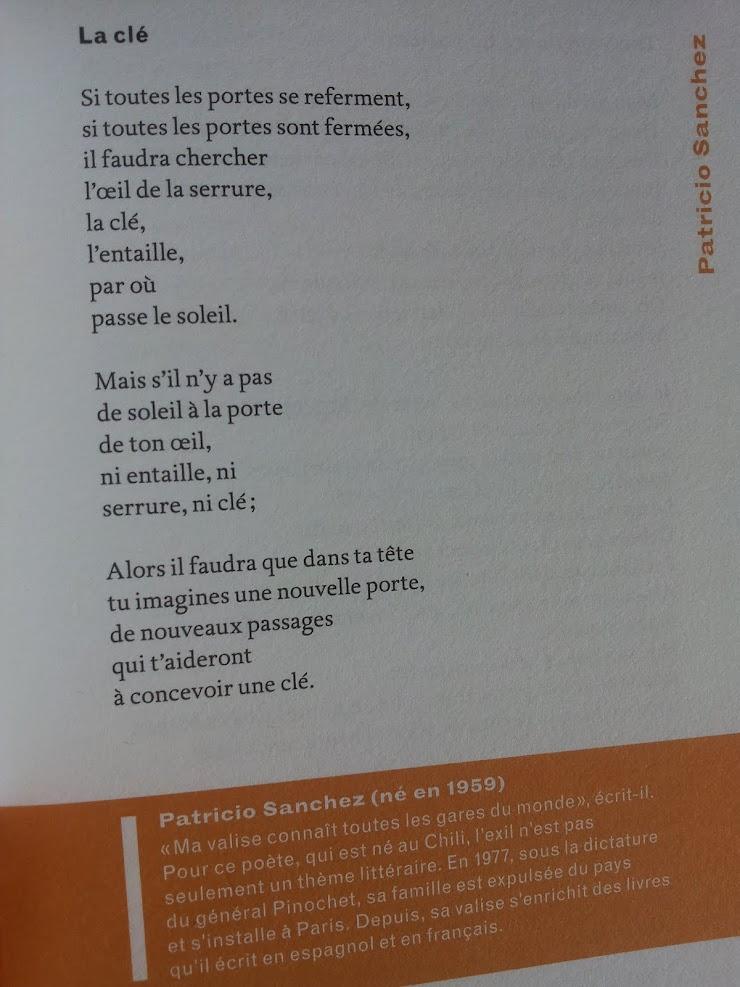 La clé - Patricio SANCHEZ-ROJAS - Passagers d'exil, Editions Bruno Doucey - France-Septembre 2017.-