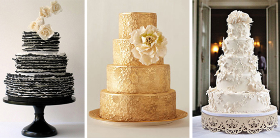Wedding Cakes via Brides