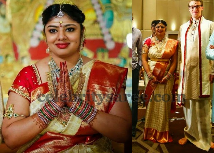 Jagapathi Babu Daughter Wedding Saree