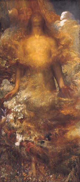 george frederick watts, symbolist painting,eve