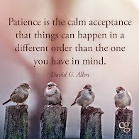 Patience is a virtue ~