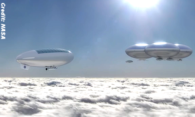 NASA's Manned, Solar-Powered Airships To Venus