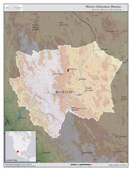 Map of México, Chihuahua Mission