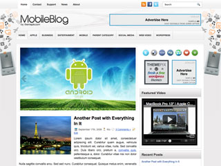 Free MobileBlog - Suitable Mobile and Tech WordPres Theme