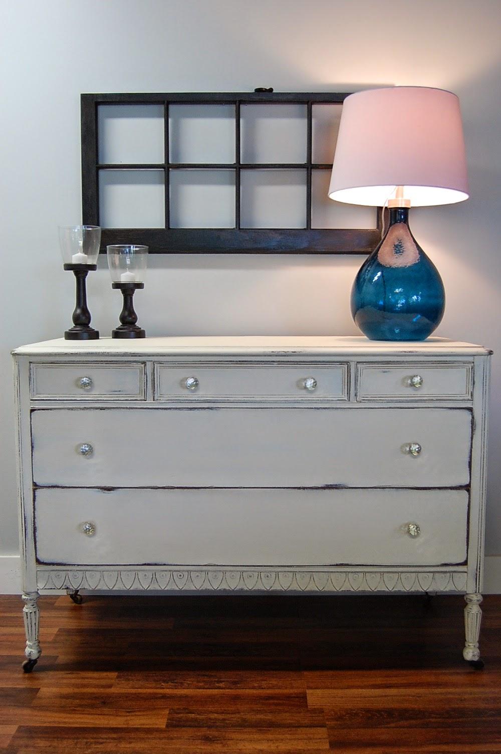 White Antique Dresser atlanta shabby chic: antique dresser in old white (sold)